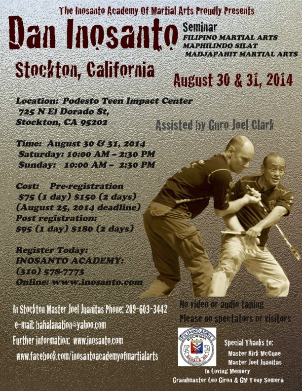 review of guro dan inosanto seminar sabeel combatives